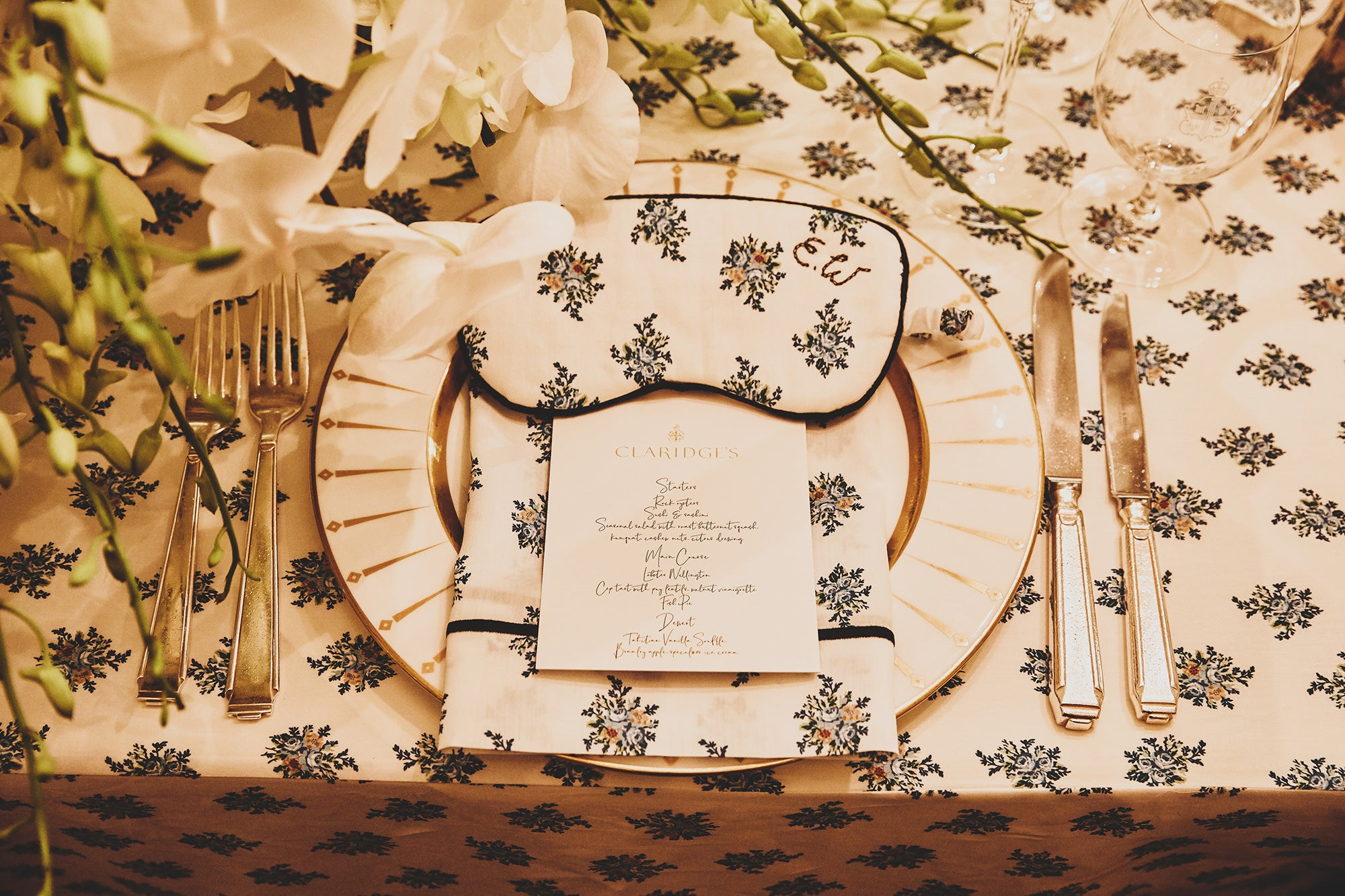 The Menu -  An Evening at Claridges with Emilia Wickstead