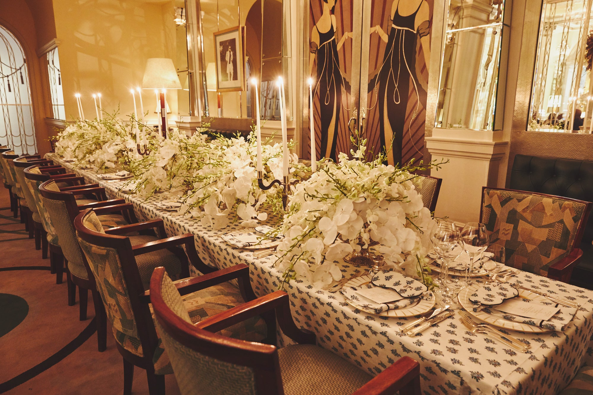 Table setting designed by FLWRBOX -  An Evening at Claridges with Emilia Wickstead