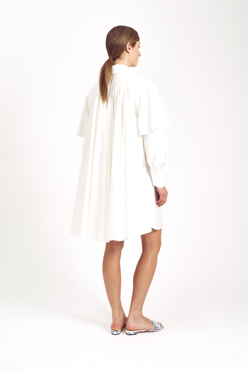 Belva Shirt Dress White Italian Double Cotton
