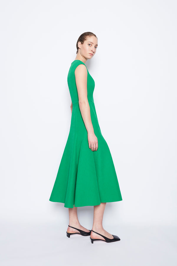 Denver Textured Cloque Dress Jade