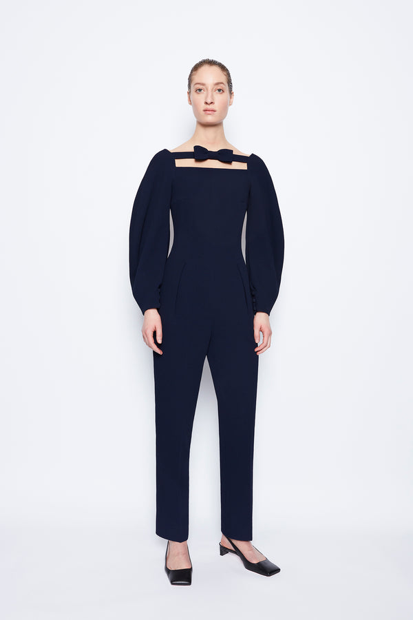 Ella Double Crepe Jumpsuit Midnight
