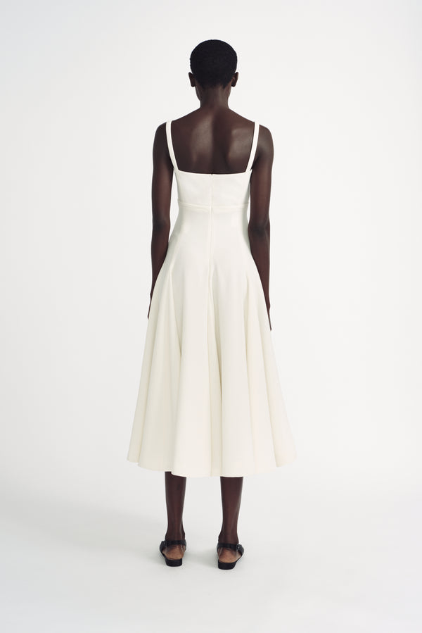 Felipe Ivory Double Crepe Sleeveless Dress - Emilia Wickstead