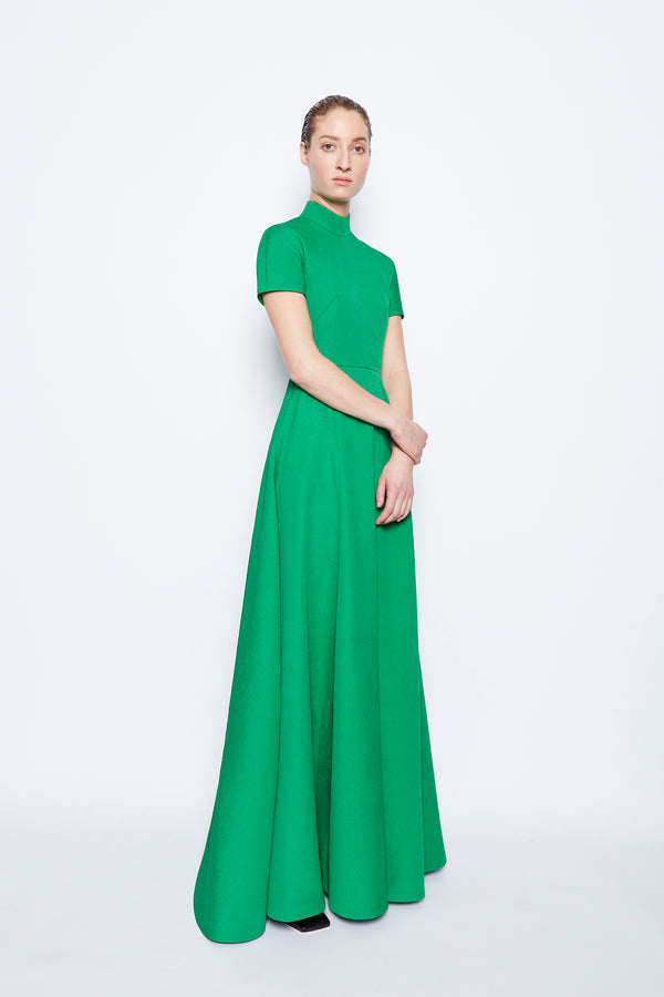 Malinda Textured Cloque Dress Jade