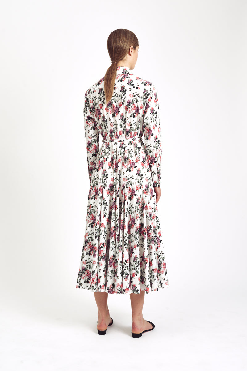 Marion Long Sleeve Dress Floral Bibione