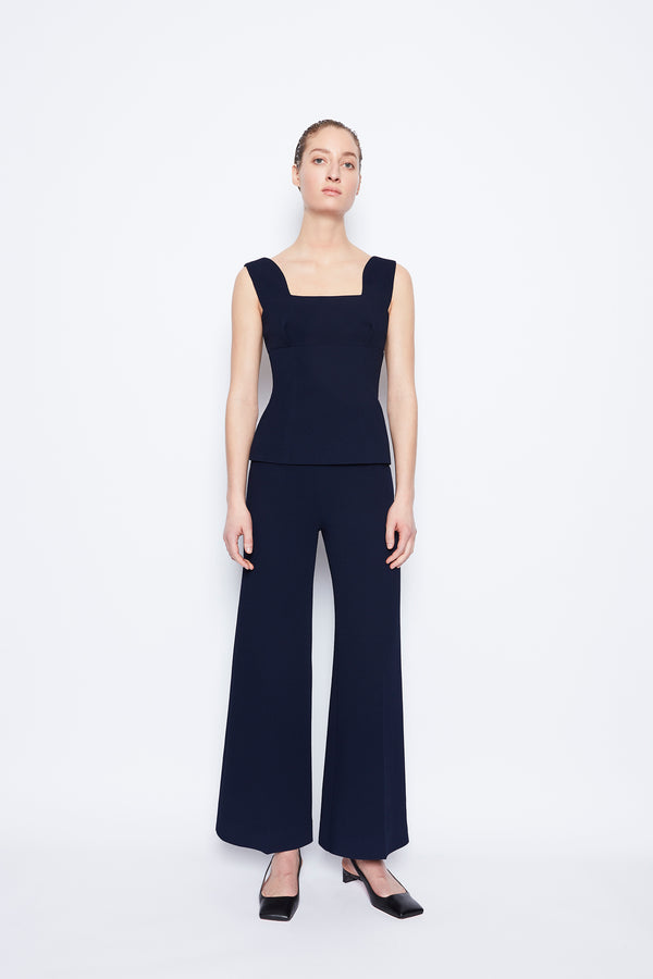 Rhys Double Crepe Top Midnight