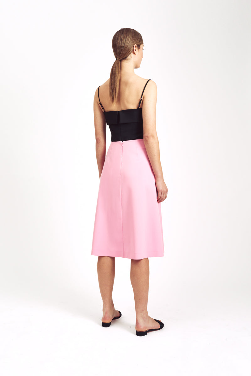 Tulip Short Wrap Skirt Pink Pink Stretch Cady