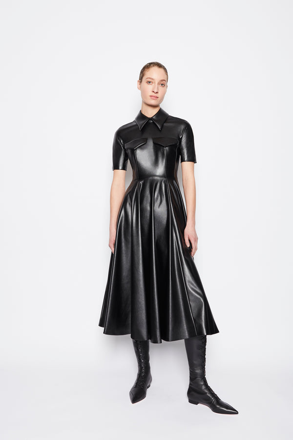 Alice Pleather Dress Black