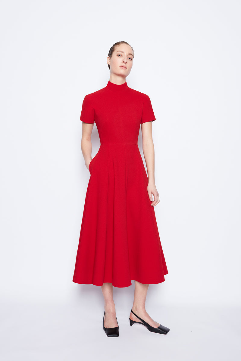 Camilla Double Crepe Dress Red Red Double Crepe