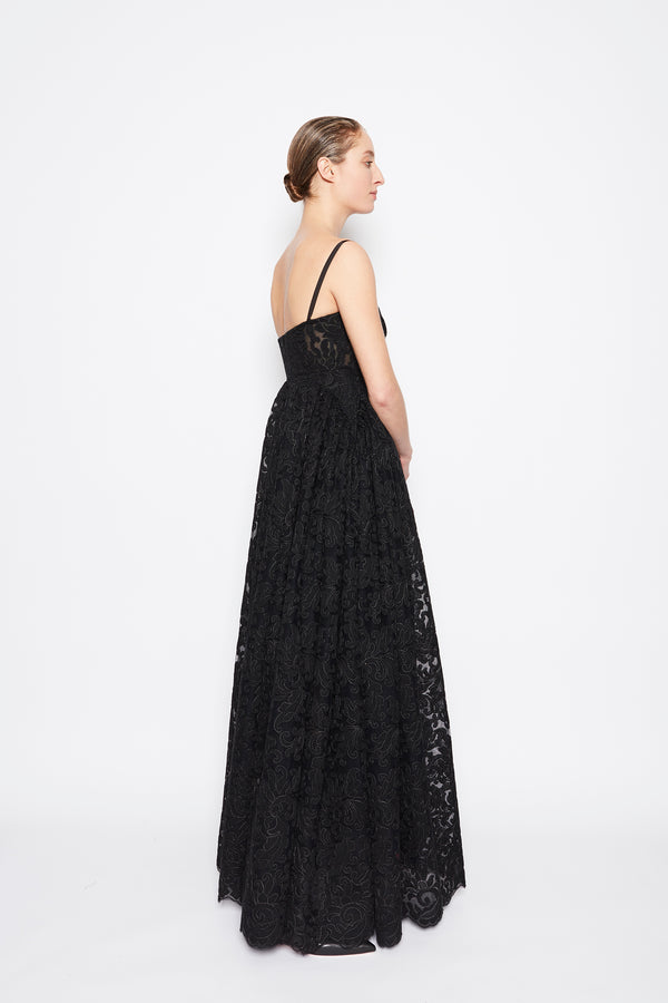 Dimona Embroidered Lace Dress Black