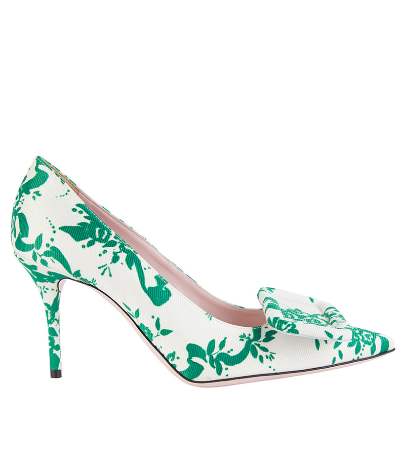 Sophia Taffeta Faille High Heel Green