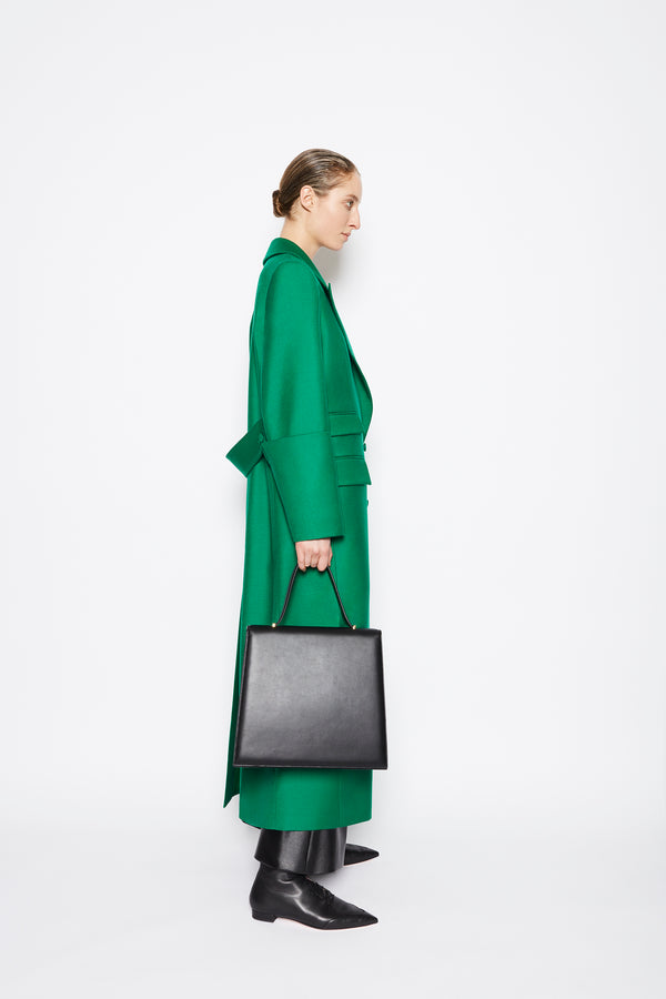 Maxine Virgin Wool Coat Emerald