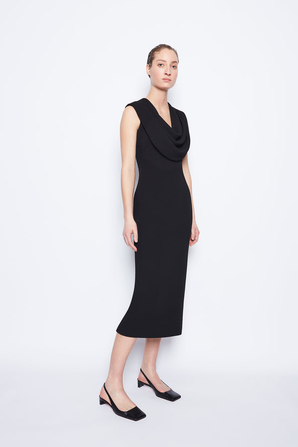 Yuri Double Crepe Dress Black