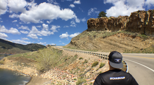 CHASKIS founder, Hugo Mendez, contemplating an uphill run in Fort Collins, Colorado #chaskiup