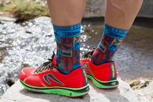 Dig Deep Running-Cycling Socks (Blue)
