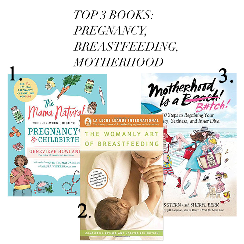 Top 3 Books on Pregnancy, Breastfeeding and Motherhood