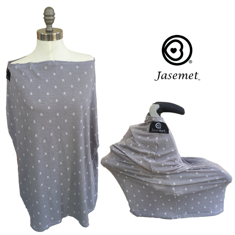 Jasemet Cover - GRAY CHEVRON
