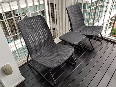 keter rio patio outdoor lounger set waterproof for balcony