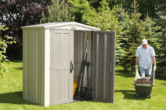 keter outdoor shed plastic waterproof storage factor 6 x 3