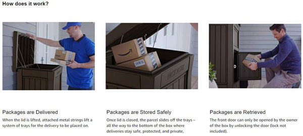 keter parcel delivery box how to use