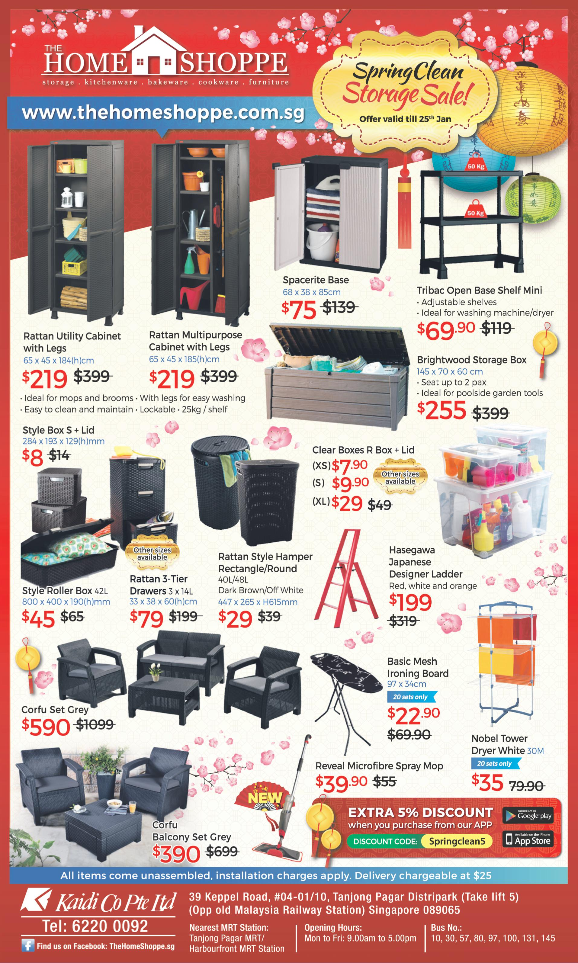 Spring clean storage sale till 25th jan 2017 the home for Furniture year end sale 2017