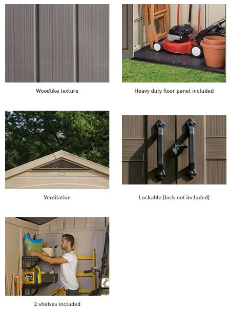 keter outdoor garden shed 8 x 6 ft waterproof storage singapore