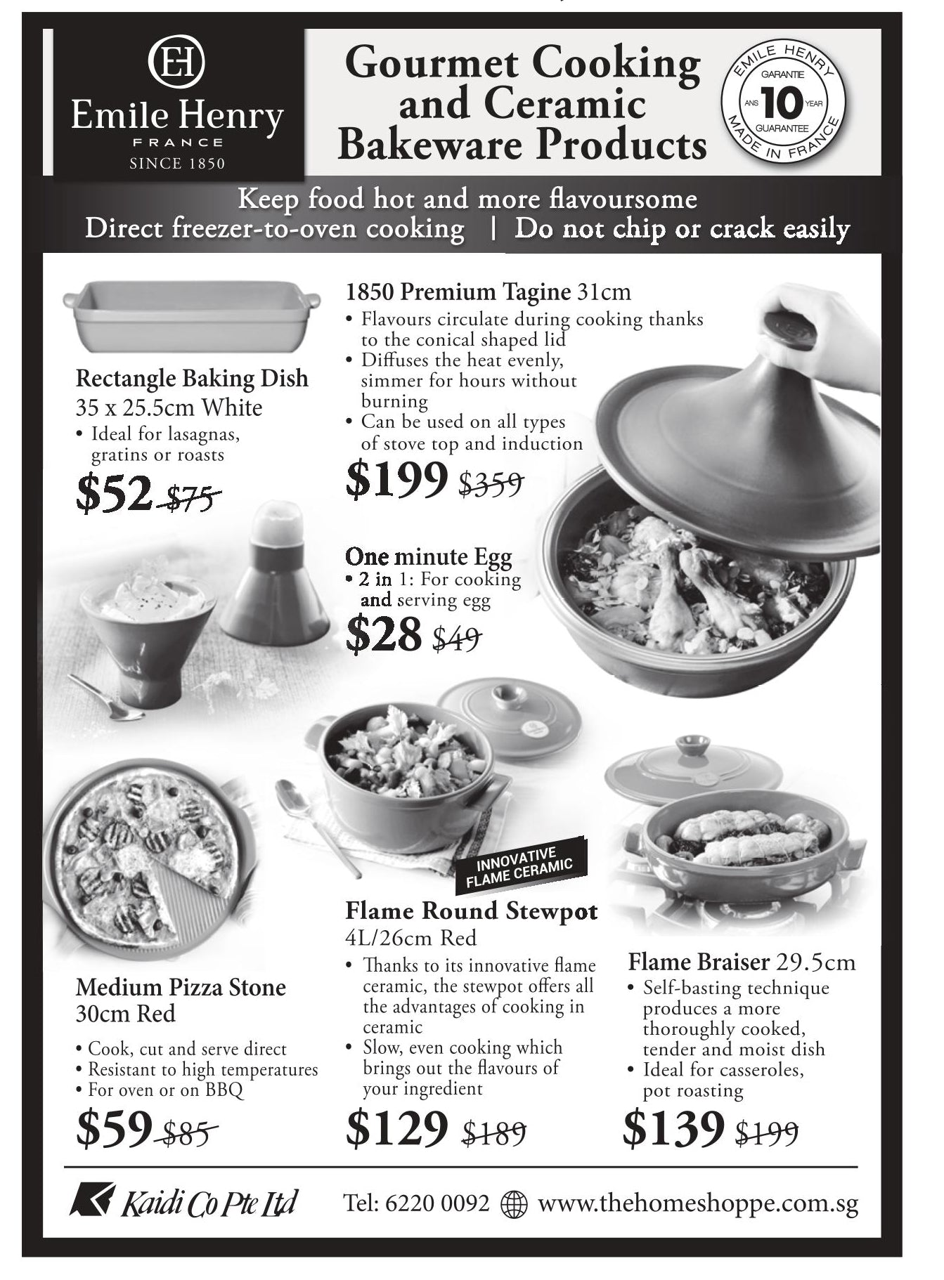 Emile Henry cookware sale sg