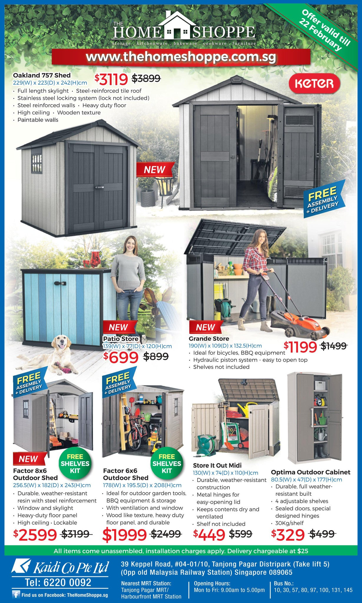 Keter outdoor garden waterproof sheds plastic weather resistant storage sg the home shoppe sale