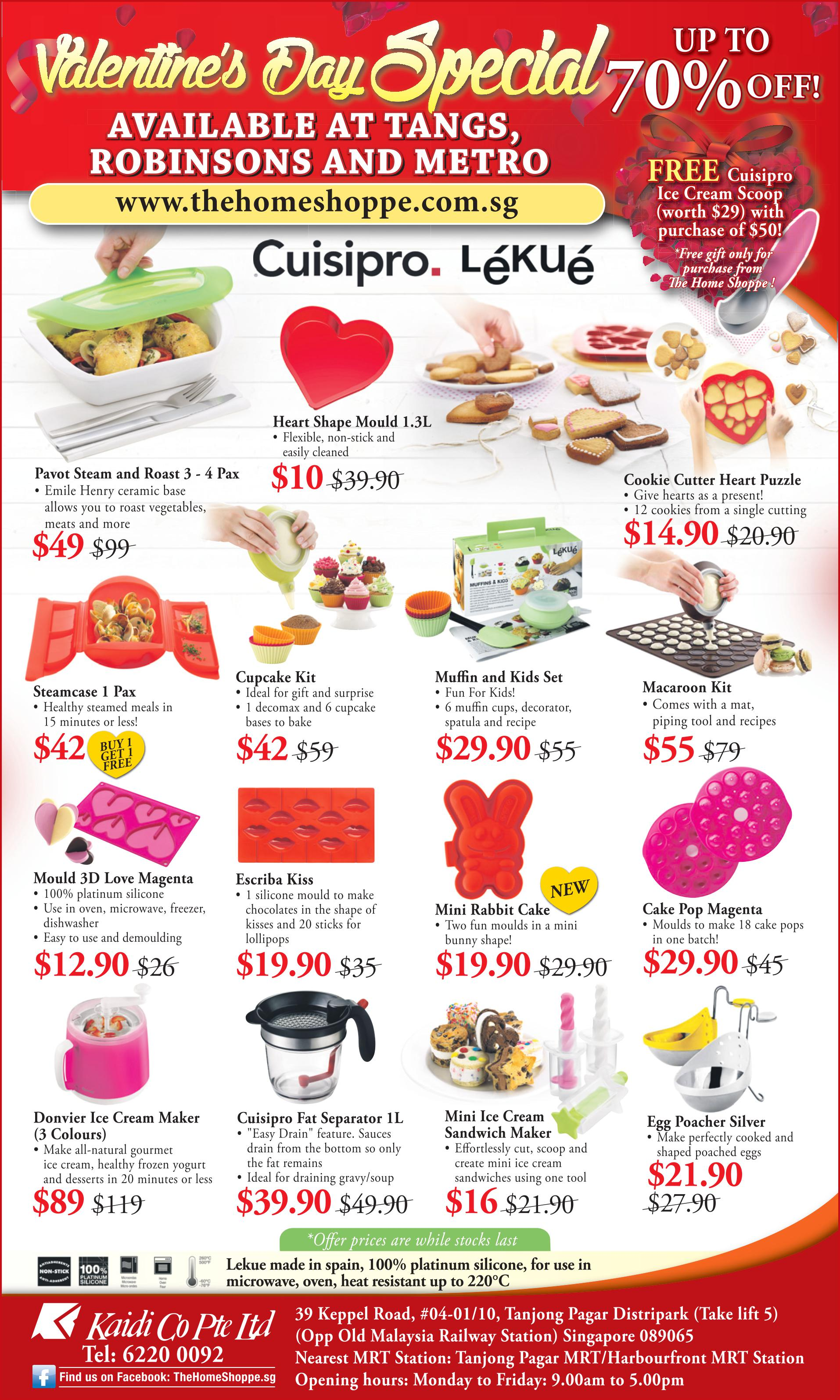 valentine's day bakeware sale lekue and cuisipro 2016