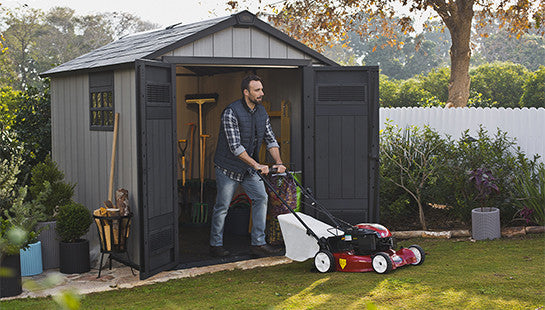 keter oakland outdoor garden shed waterproof sg house