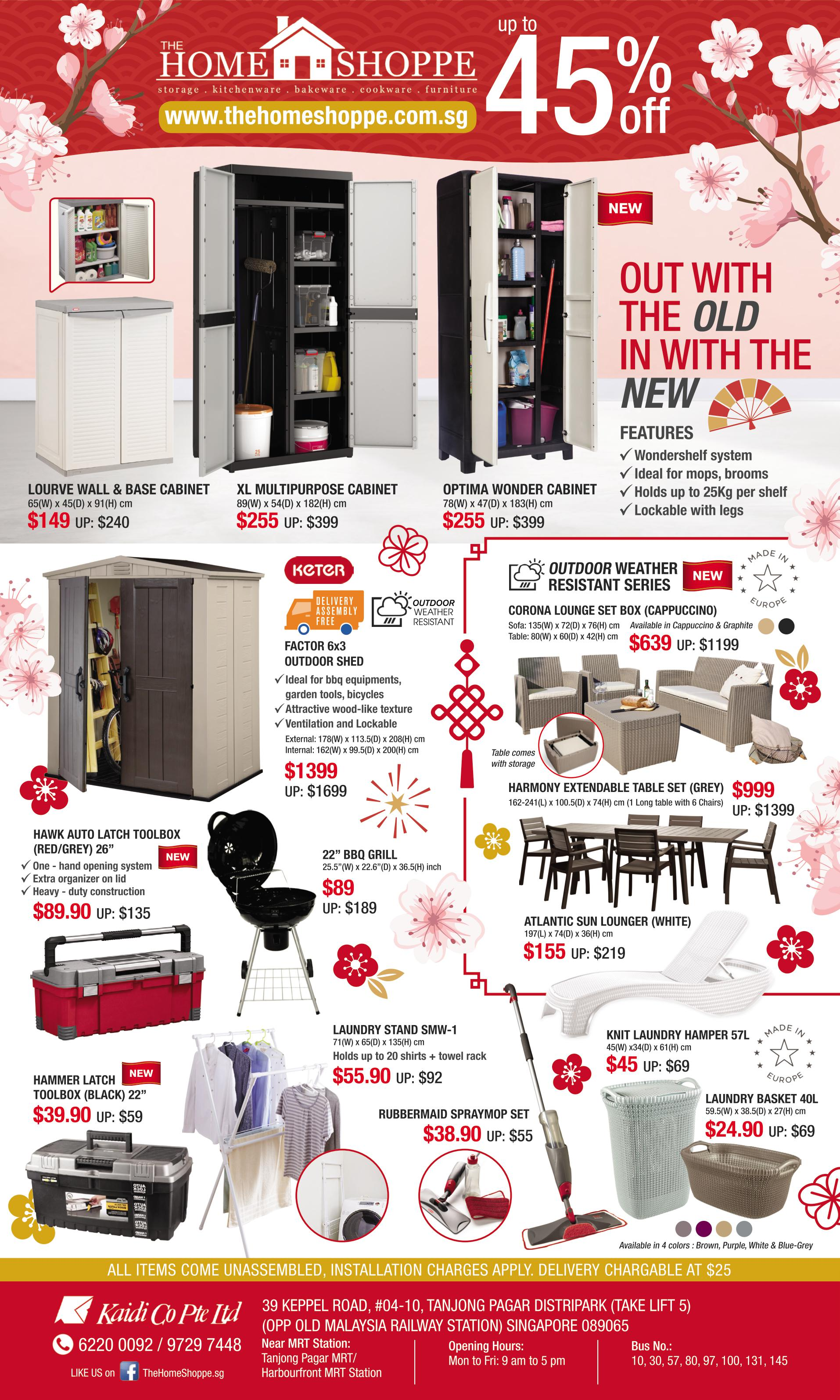 The home shoppe cny jan spring clean storage furniture cleaning sale sg