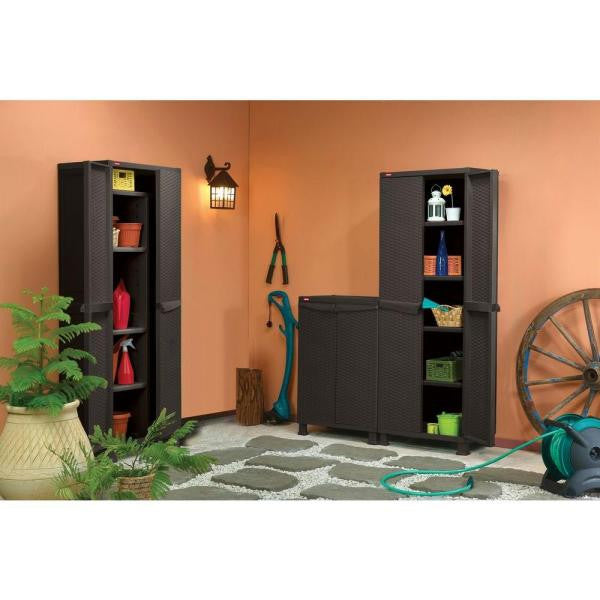 Rattan Utility Cabinet with Legs