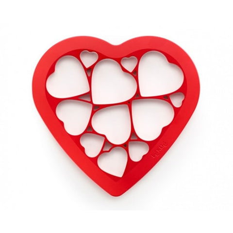 Cookie Puzzle Hearts Red