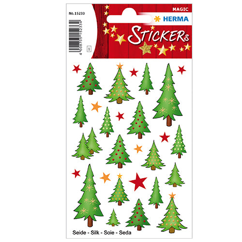 Stickers Christmas Trees, Silk (15233)