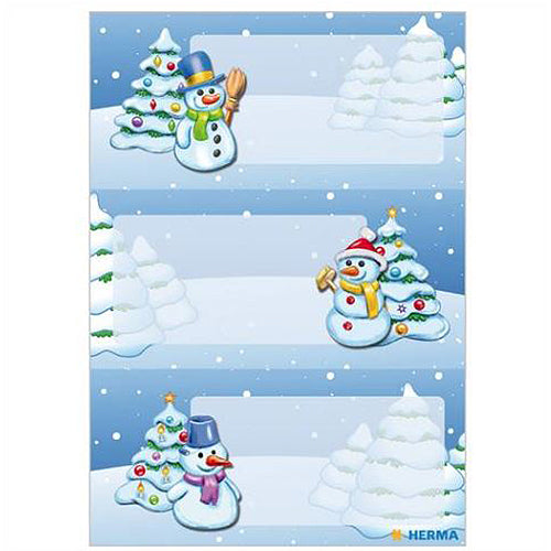Stickers Gift Stickers Winter Landscape, Glittery (15259)