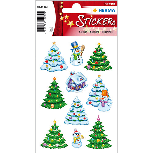 Stickers Christmas Winter Landscape (15262)