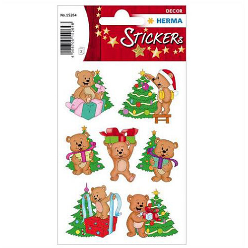Stickers Christmas Bears (15264)
