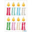 Stickers Christmas Candles (15270)