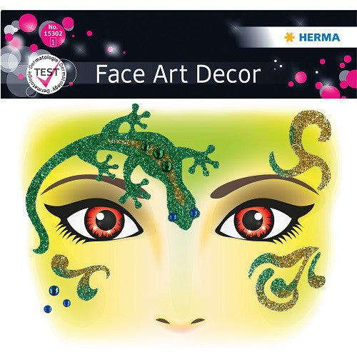 Face Art Sticker Gecko (15302)