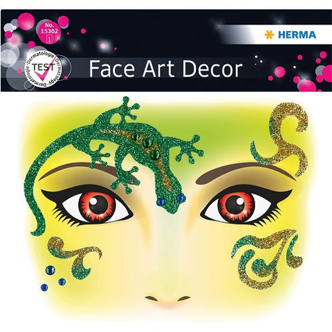 Face Art Sticker Gecko