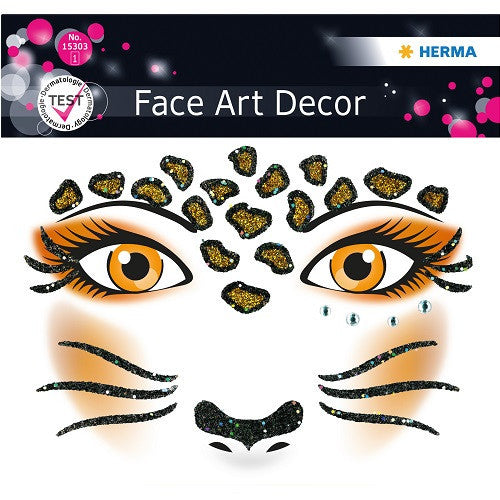 Face Art Sticker Leopard (15303)