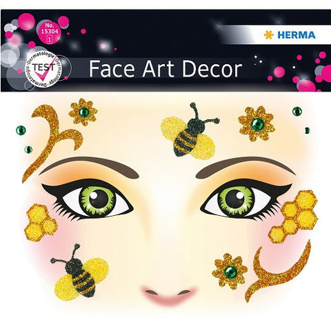 Face Art Sticker Honey Bee