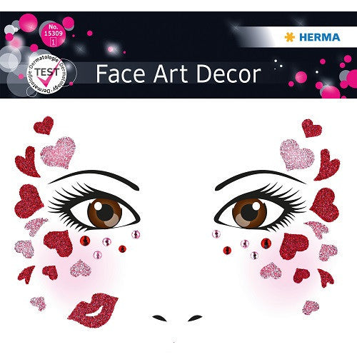 Face Art Sticker Love