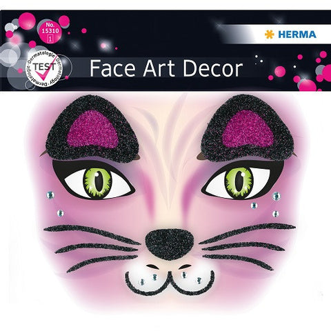 Face Art Sticker Pink Cat