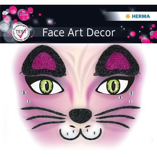 Face Art Sticker Pink Cat (15310)