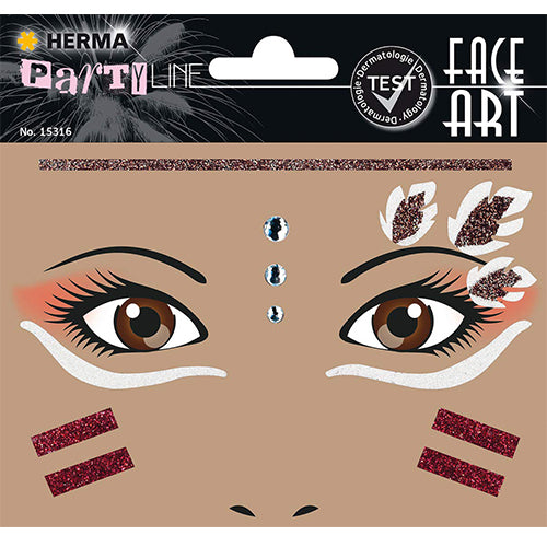 Face Art Stickers Native American (15316)
