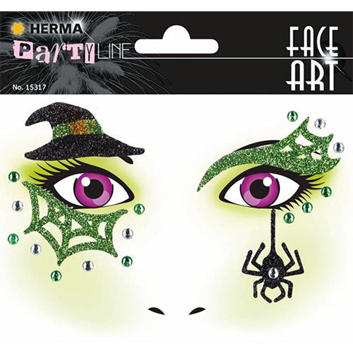 Face Art Stickers Witch (15317)