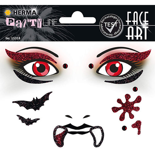 Face Art Stickers Vampire (15318)