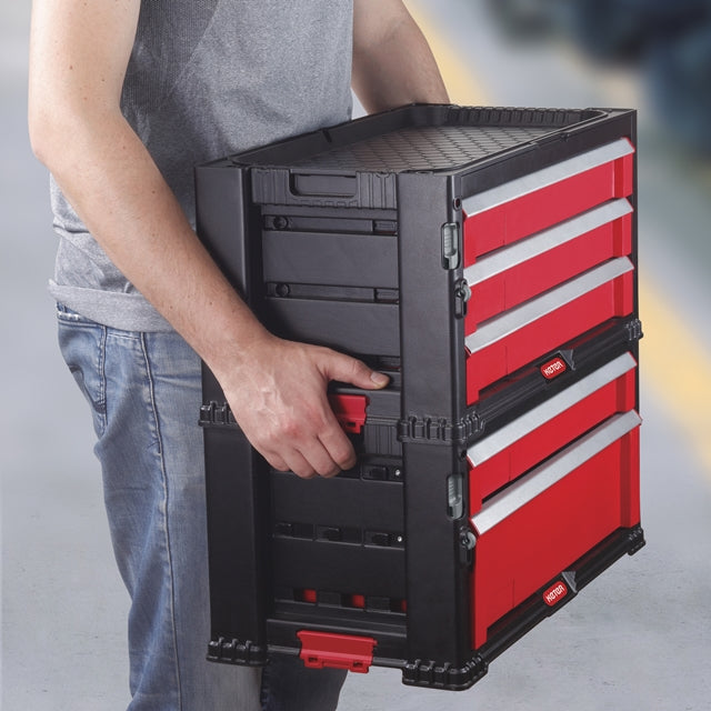 Keter Tool Chest Box Modular System 1 Drawer Work Bench
