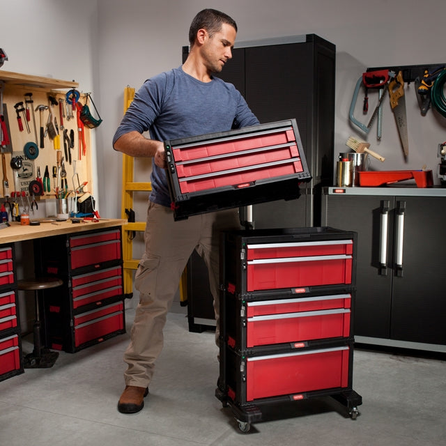 Tool Chest Box 1 Drawer Red/Grey