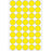 Office Pack Multi-purpose Labels Round 19mm Yellow (2251)